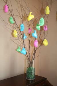 Dollar Store Idea:  Marshmallow Peeps Easter Tree