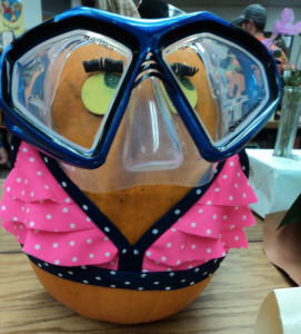 Pumpkin Decorating Ideas: Bathing Beauty