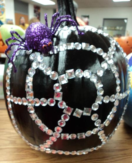 Pumpkin Decorating Idea: Sparkly Spiderweb