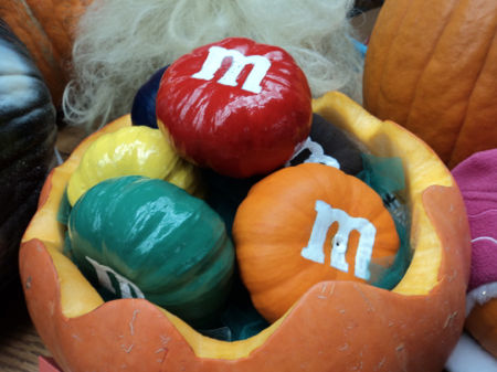 Sweet!  M&Ms Pumpkin