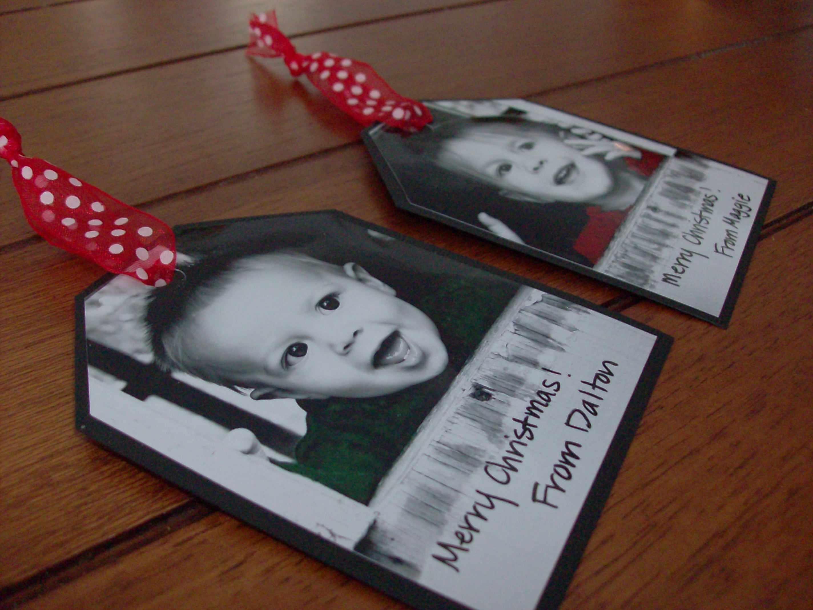Homemade Photo Gift Tags