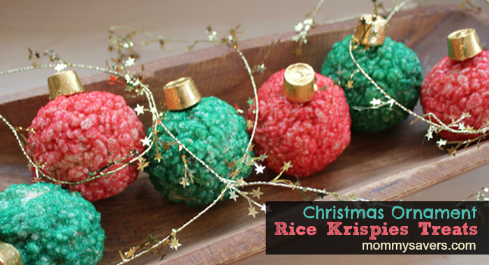 Christmas Ornament Rice Krispies Treats | Christmas Rice Krispie Treats Recipes You'll Love