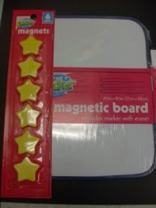 Dollar Store Craft: Magnetic Chore Chart