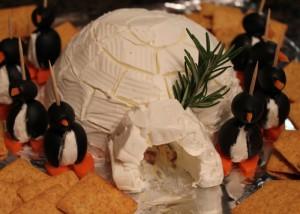olive cream cheese igloo penguins