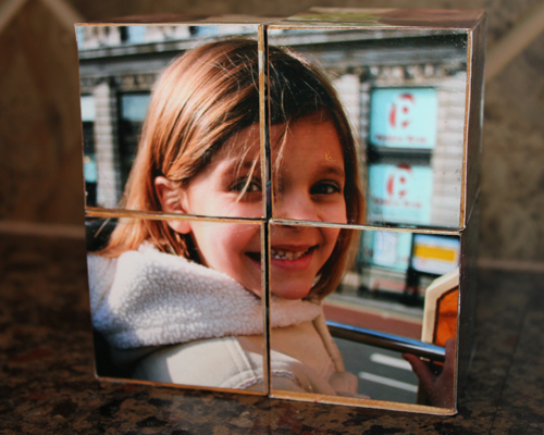 mother's day crafts photo cubes