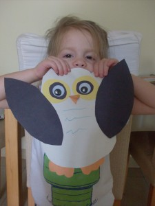 Kids Craft: Silly Eyes Owl