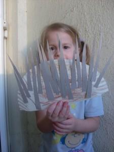Kids Craft: Paper Plate Porcupine