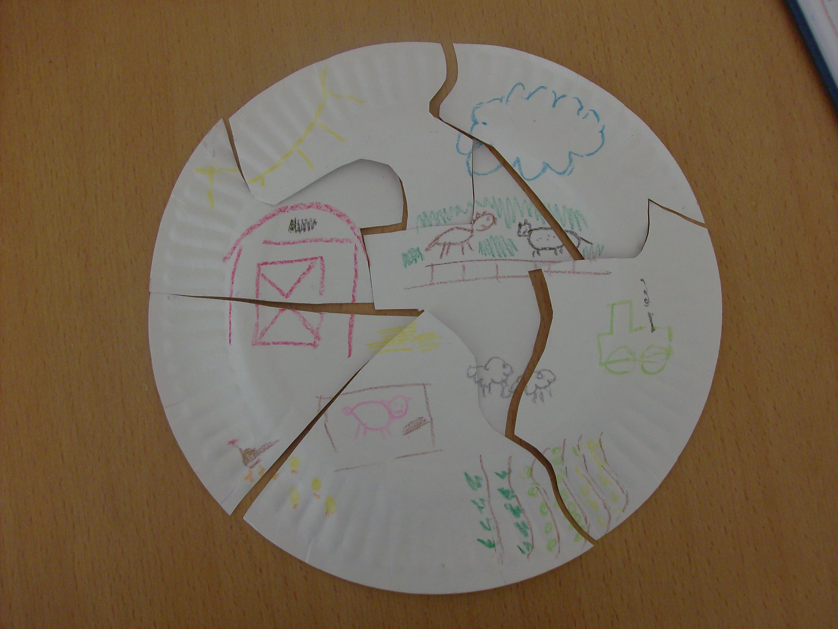 paper plate puzzle