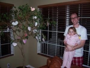 Kids Craft: Valentine's Day Heart Tree