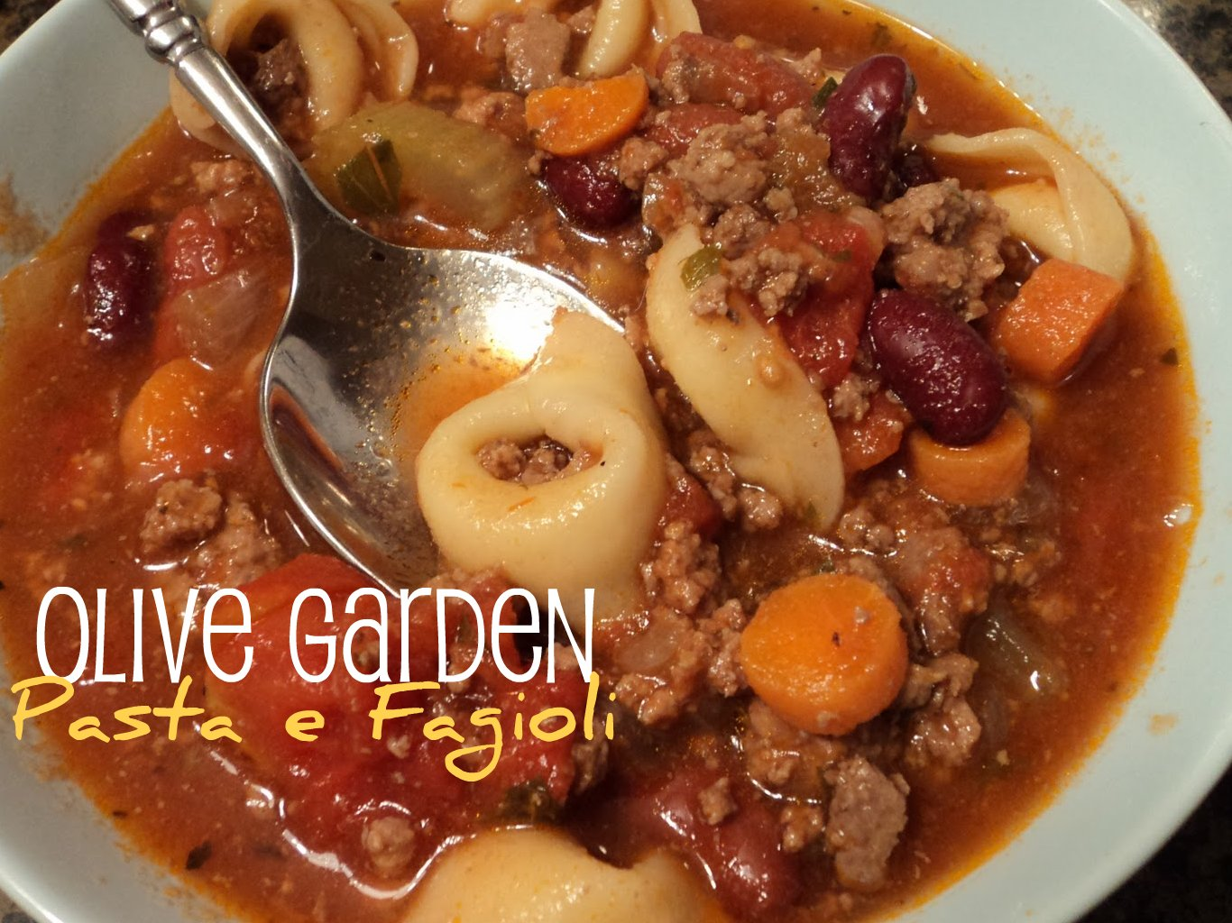 Copycat Recipe Olive Garden Pasta e Fagioli for the Crock Pot ...