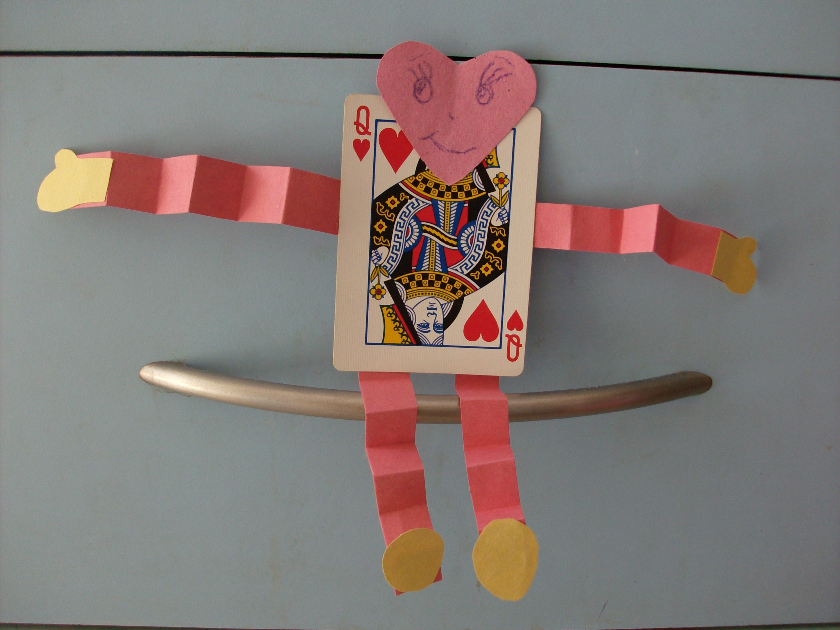 Kids Valentines Day Crafts Deck Of Cards Playing Card Banner And Hug Me
