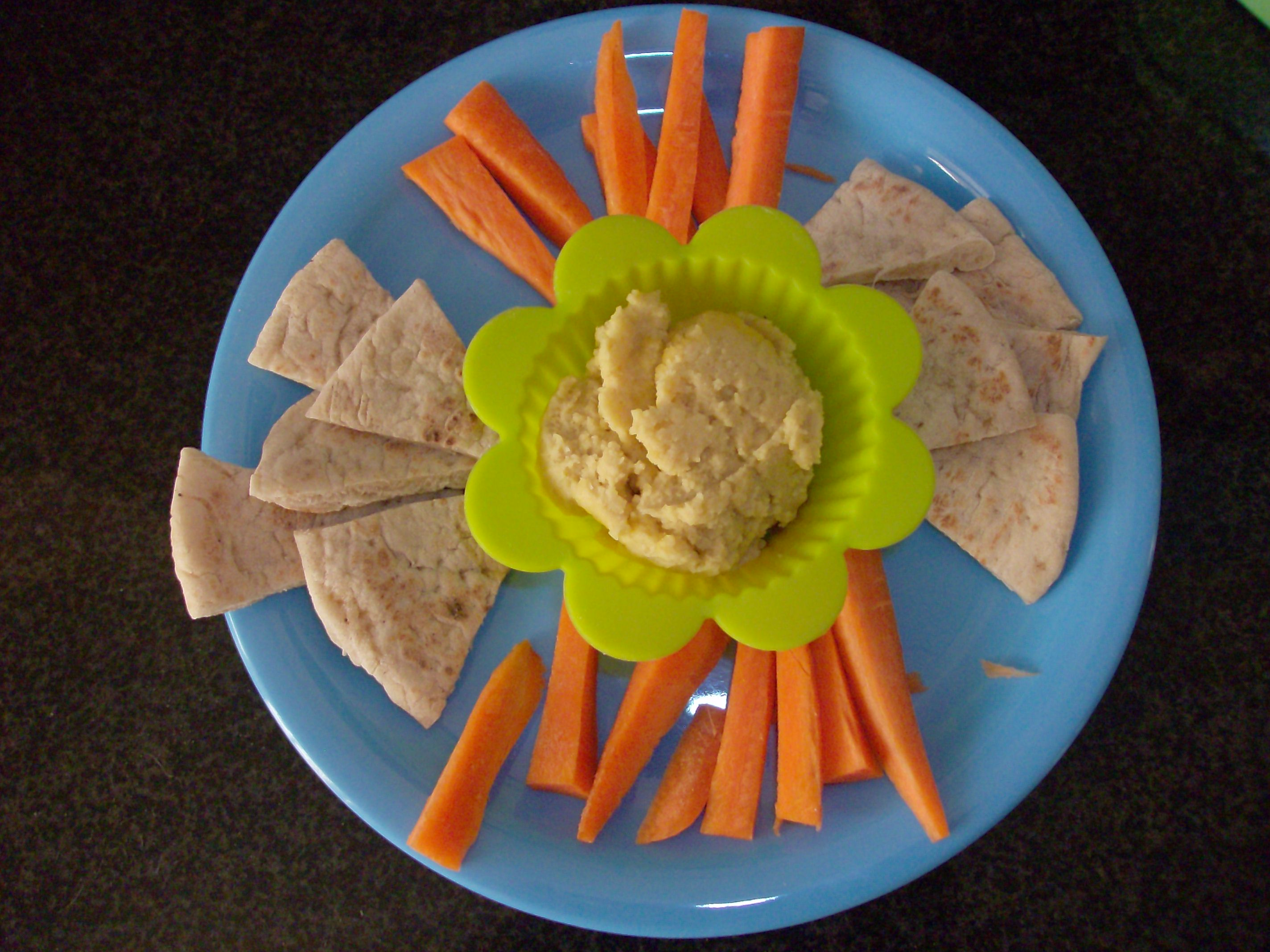 Muffin Tin Meal hummus