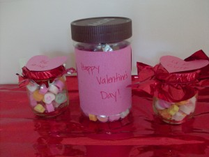 Recycled Valentine's Day Treat Jars