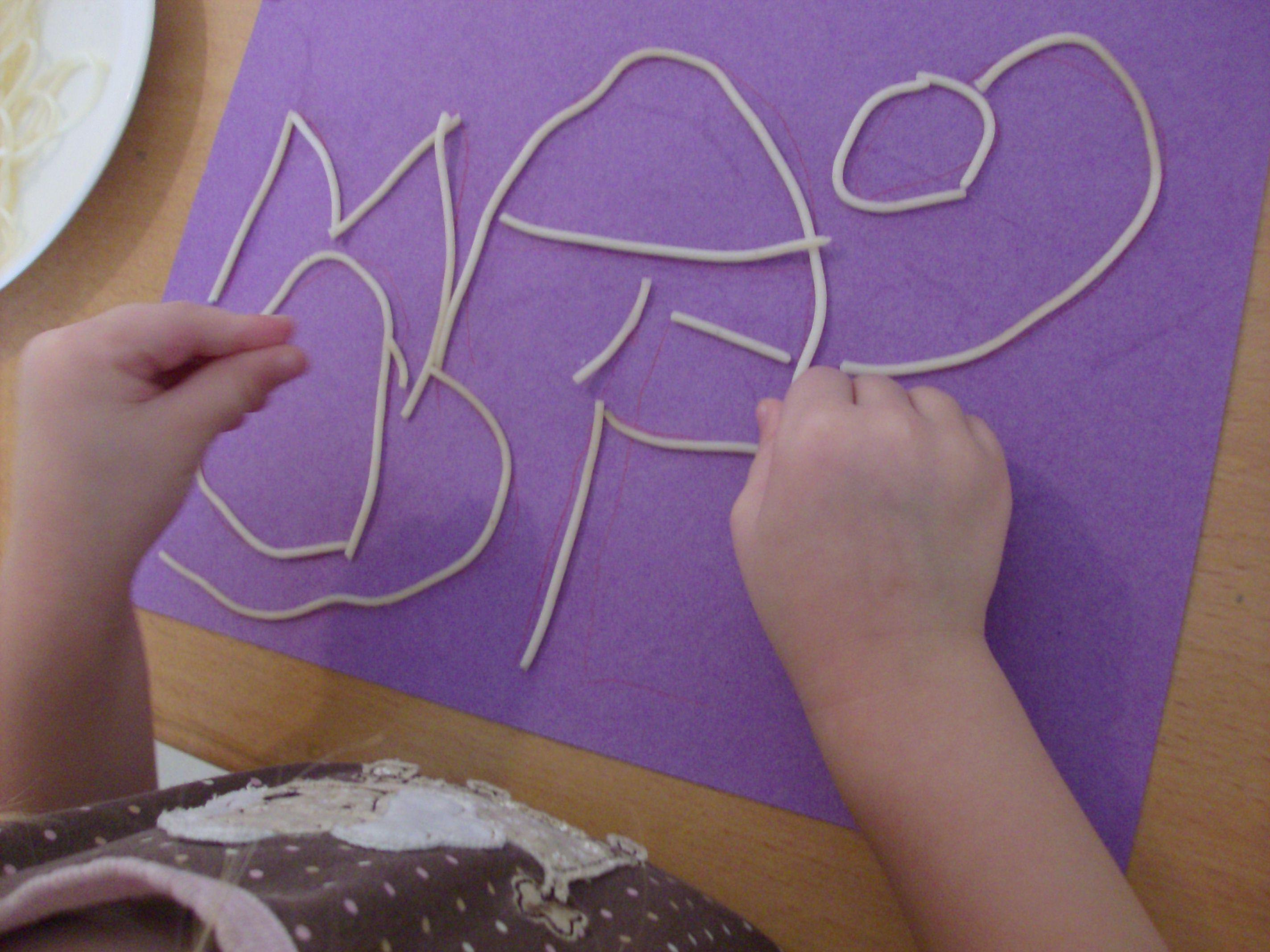 Spaghetti Activities for Kids - Name Writing