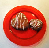 Valentine's Day Delights: Glazed Brownie Hearts and Strawberry Roll-Ups