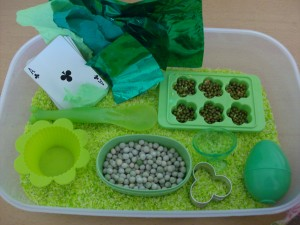 St. Patrick's Day Themed Sensory Box