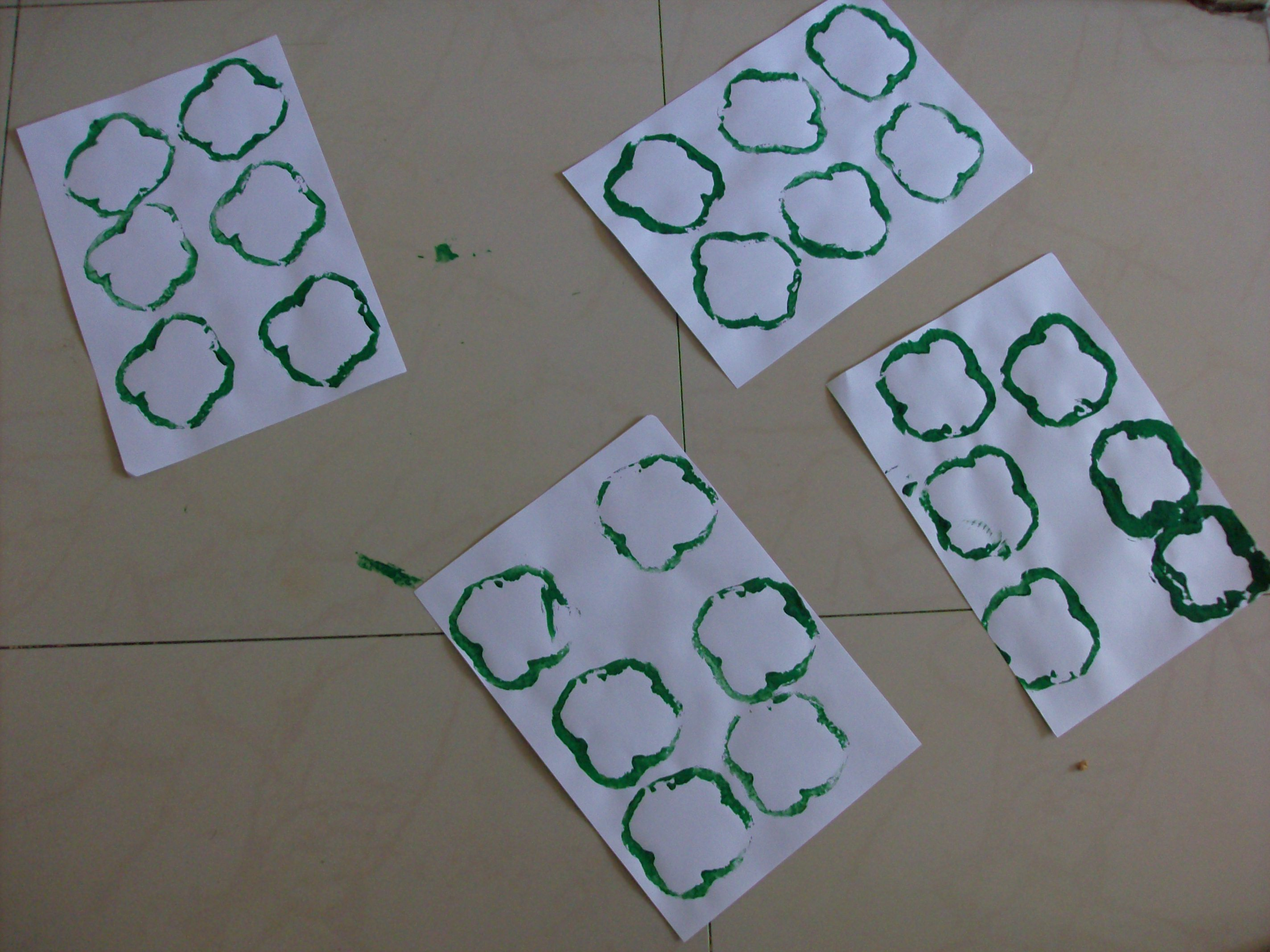Bell Pepper Shamrock Paintings
