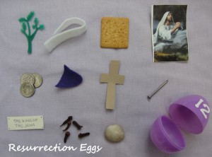 Resurrection Eggs Easter Activity symbols