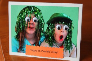 Photo Crafts:  Silly St. Patrick's Day Card Idea