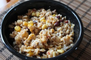 Taco Meat Leftovers: Rice Bake