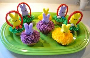 Marshmallow Peeps Treat: Easter Bunny Cupcakes