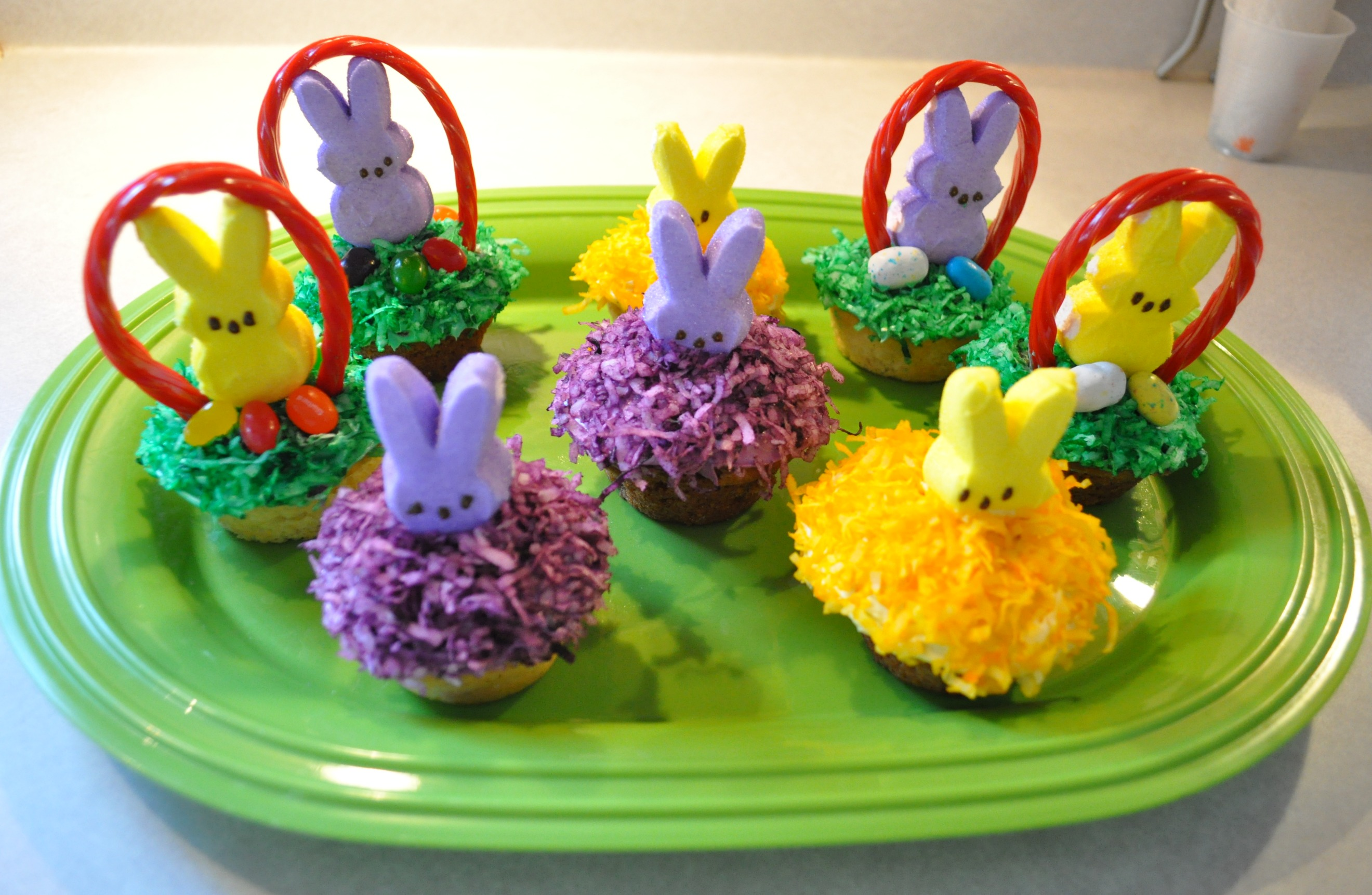 Marshmallow Peeps Treat: Easter Bunny Cupcakes