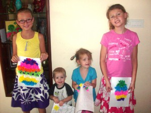 Puffy Tissue Paper Easter Egg Craft