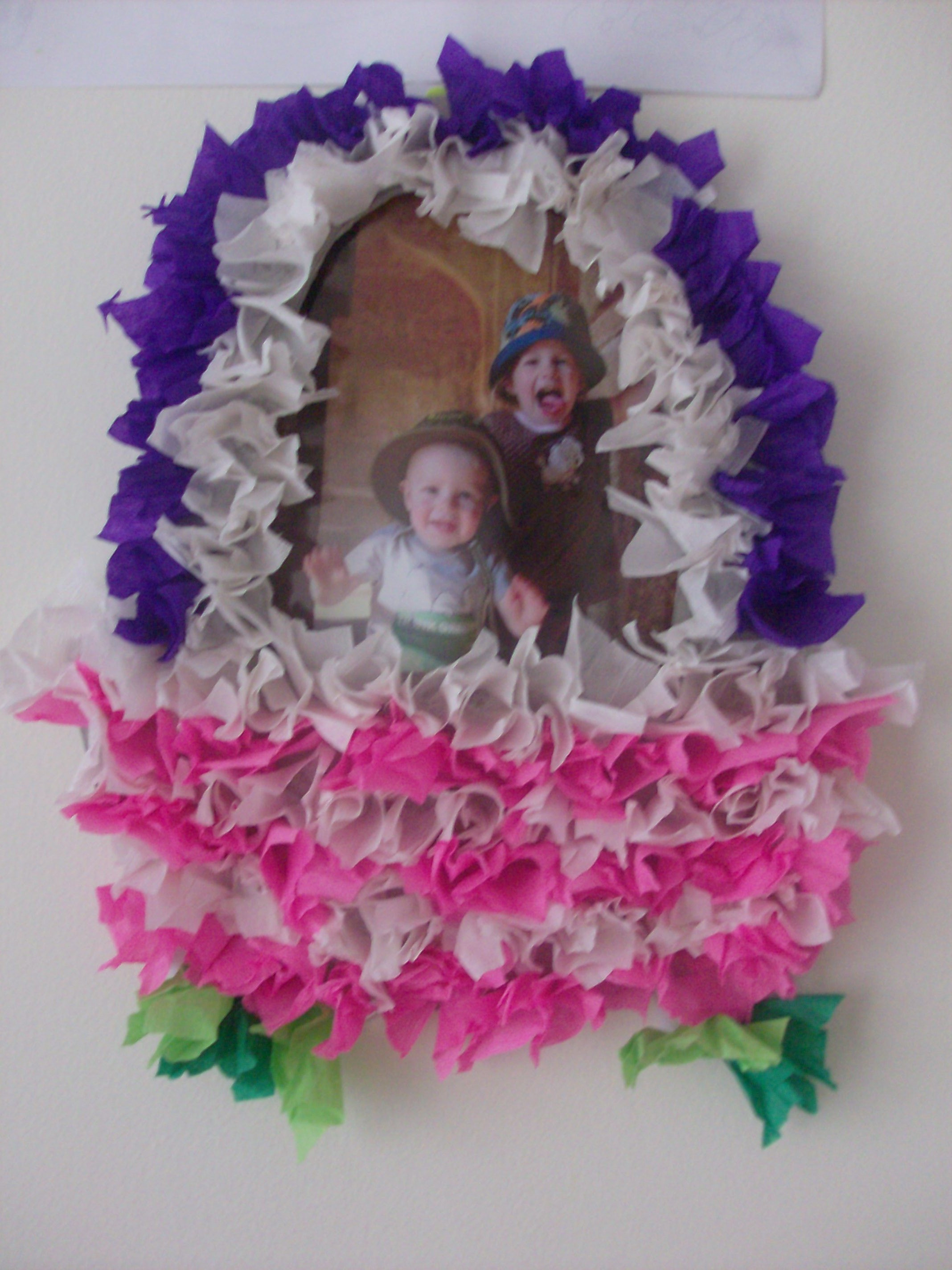 Photo Craft Puffy Tissue Paper Easter Basket Mommysavers