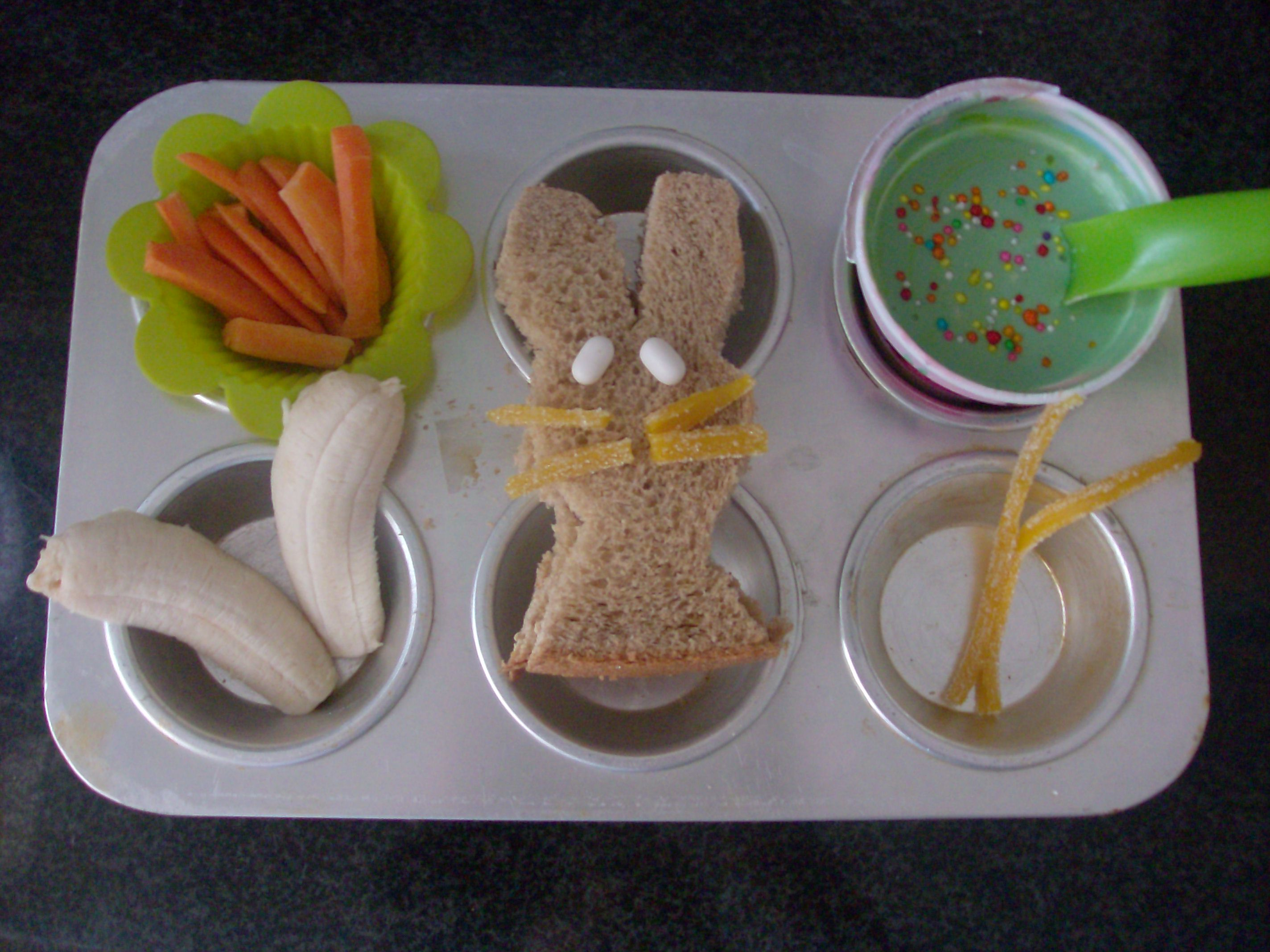 Easter Bunny Muffin Tin Meal