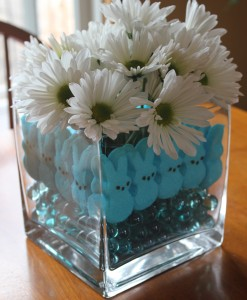 Marshmallow Peeps Craft:  Easter Centerpiece