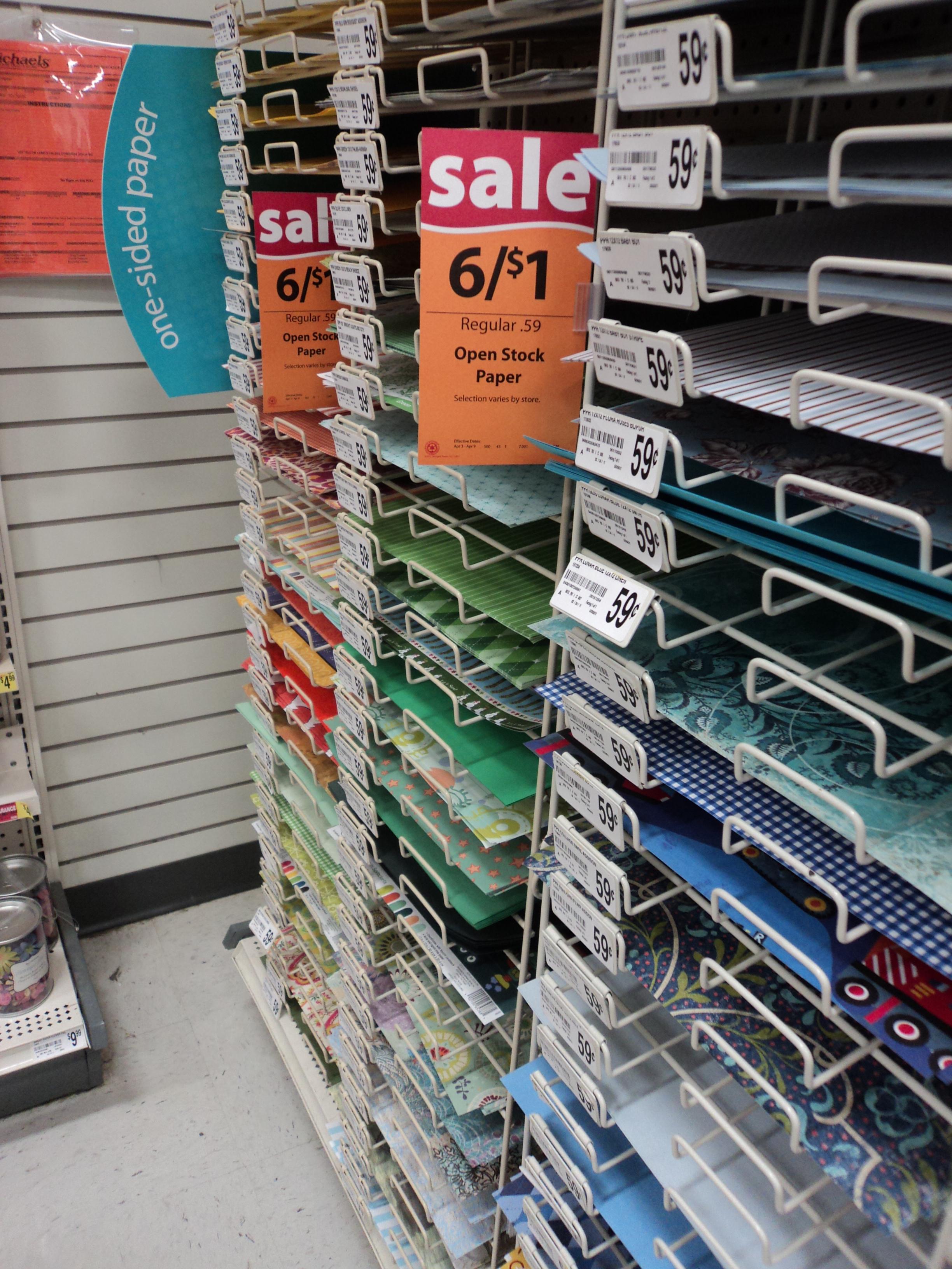 Michaels Sales Paper Best Wholesale
