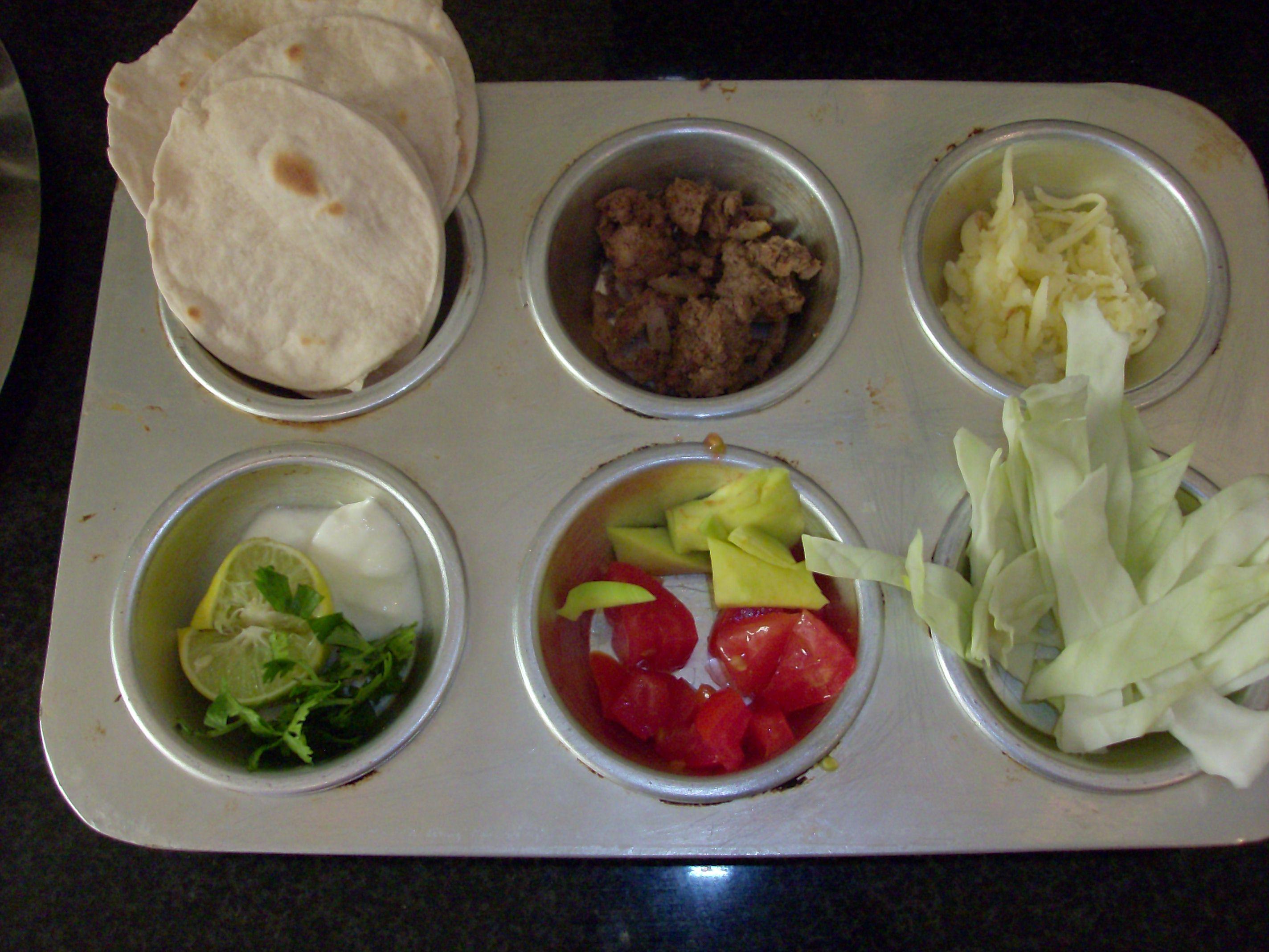 Muffin Tin Meal: Taco Tin