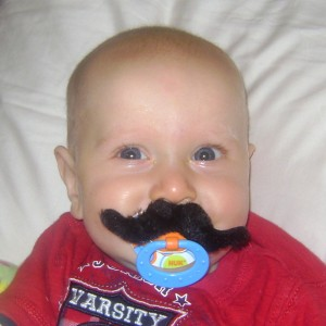 Dollar Store Fun:  Pacifier Mustache Idea for Halloween
