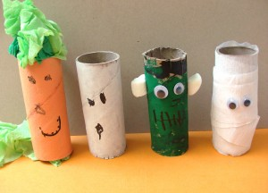 Halloween Kids' Craft: Toilet Paper Roll Pals