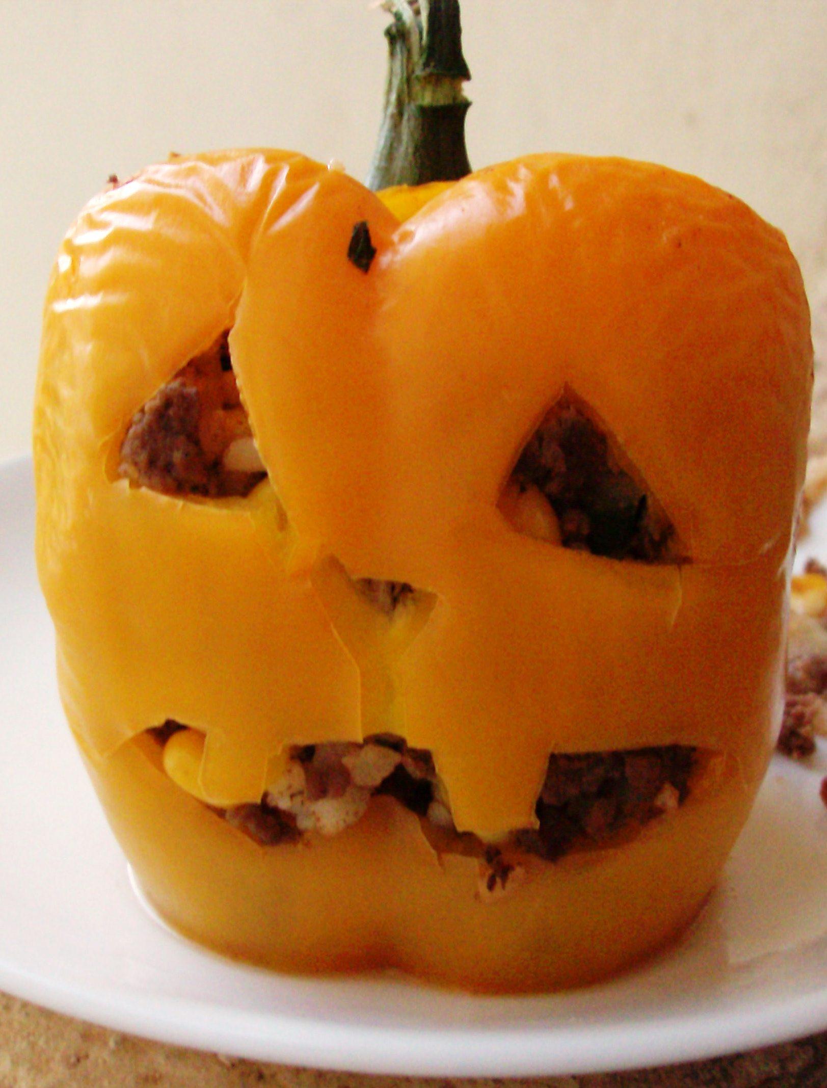 Halloween Food Ideas Stuffed Pepper Jack O Lanterns And Monster Meatballs Mommysavers