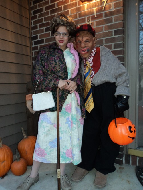 old lady and old man halloween costume idea