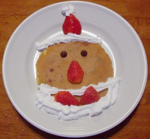 Christmas Breakfast: Santa Pancake