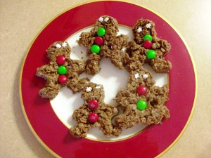 Holiday Treat: Chocolate Mint Pebbles Treats