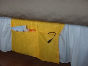 Homemade Gift Idea: Easy-Sew Bedside Organizer