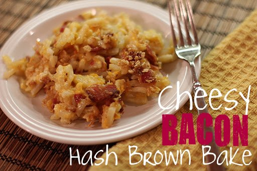 cheesy bacon hash brown potato bake