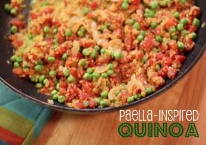 paella inspired quinoa