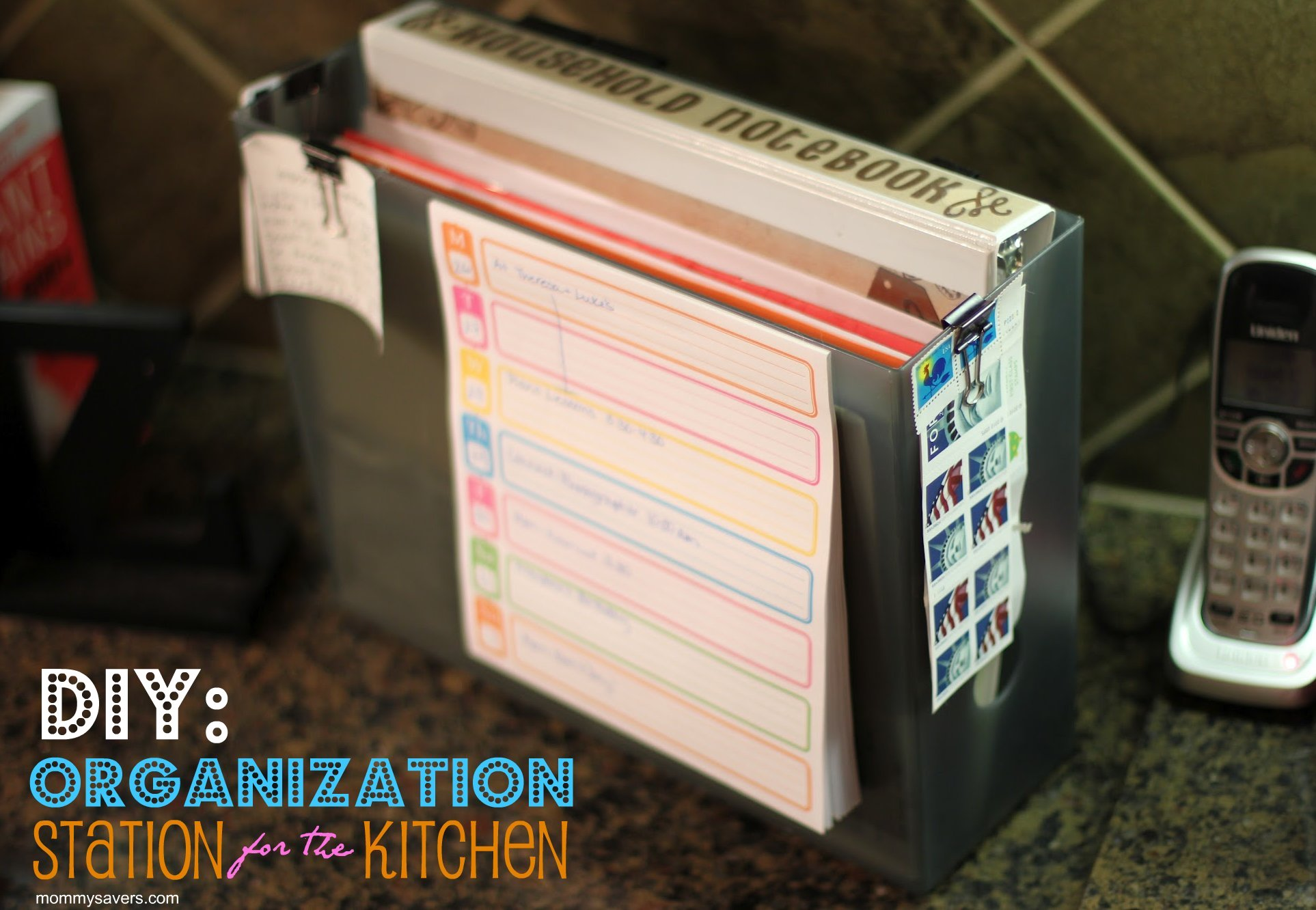 DIY: Create a Paper Organization Station for your Kitchen ... on diy beach ideas, diy bath ideas, diy wood countertops for kitchens, diy outdoors ideas, diy desk ideas, diy vanity ideas, diy garage ideas, diy stone ideas, diy shower ideas, diy cutting board ideas, diy painting ideas, diy roof ideas, diy fireplace ideas, diy toilet ideas, diy ottoman ideas, diy bar counter, diy office ideas, diy bookshelf ideas, diy tile ideas, diy park bench ideas,
