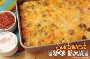 Southwest Egg Bake:  Easy Make-Ahead Breakfast Recipe