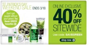 The Body Shop - St. Patrick's Day Sale