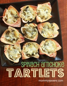 spinach artichoke tartlets