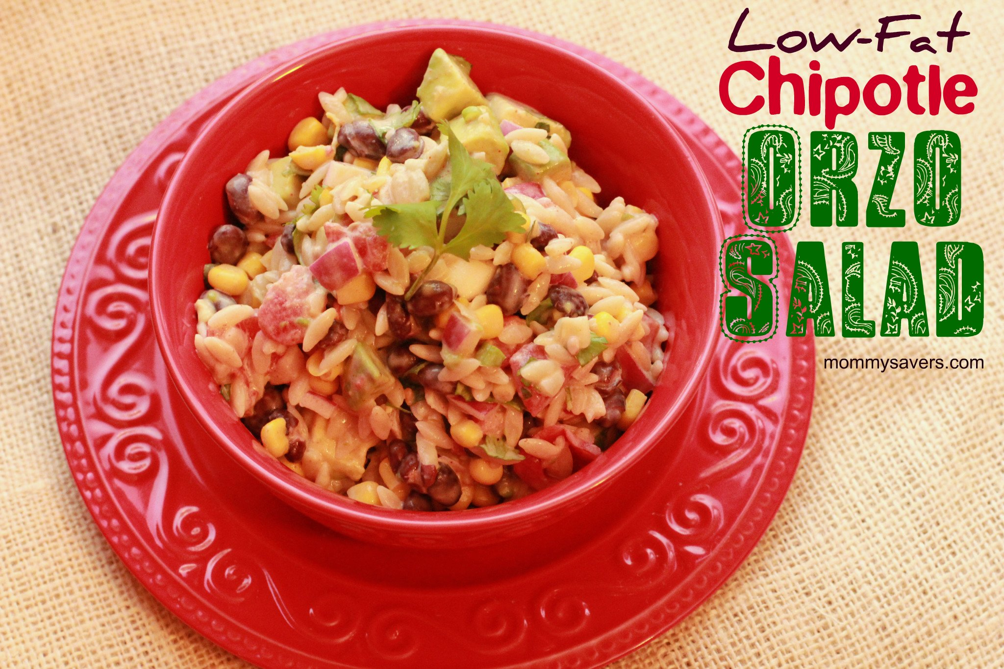 low-fat chipotle orzo salad