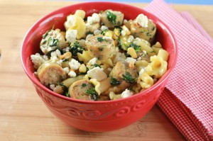 market pantry sausage pasta with goat cheese