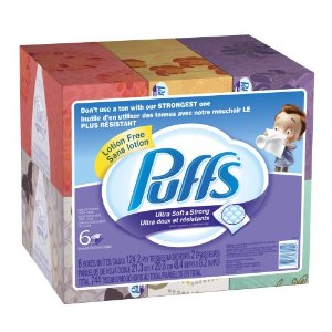 puffs facial tissues