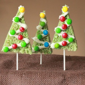 christmas rice krispie trees