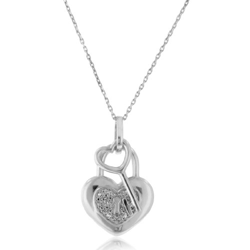 lock and pendant necklaces love key gold couple pin